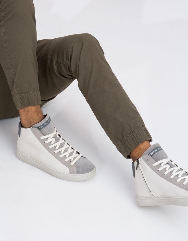 נעלי גברים - Crime London - סניקרס INFINITY - לבן   אפור