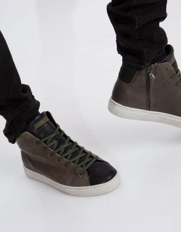 נעלי גברים - Crime London - סניקרס INFINITY - חאקי   שחור