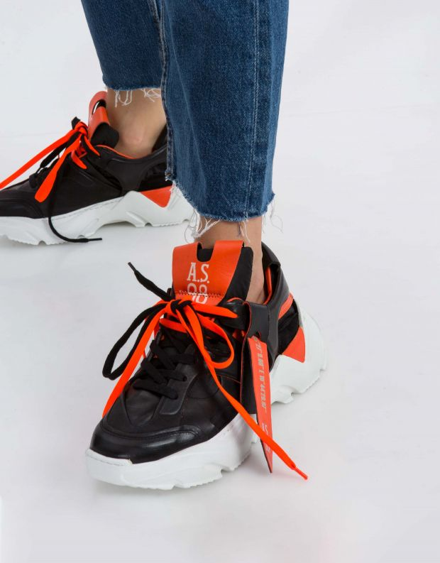נעלי נשים - A.S. 98 - סניקרס MONSTER - שחור
