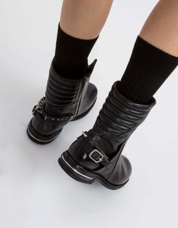 נעלי נשים - A.S. 98 - מגפון TEAL רצועת ניטים - שחור