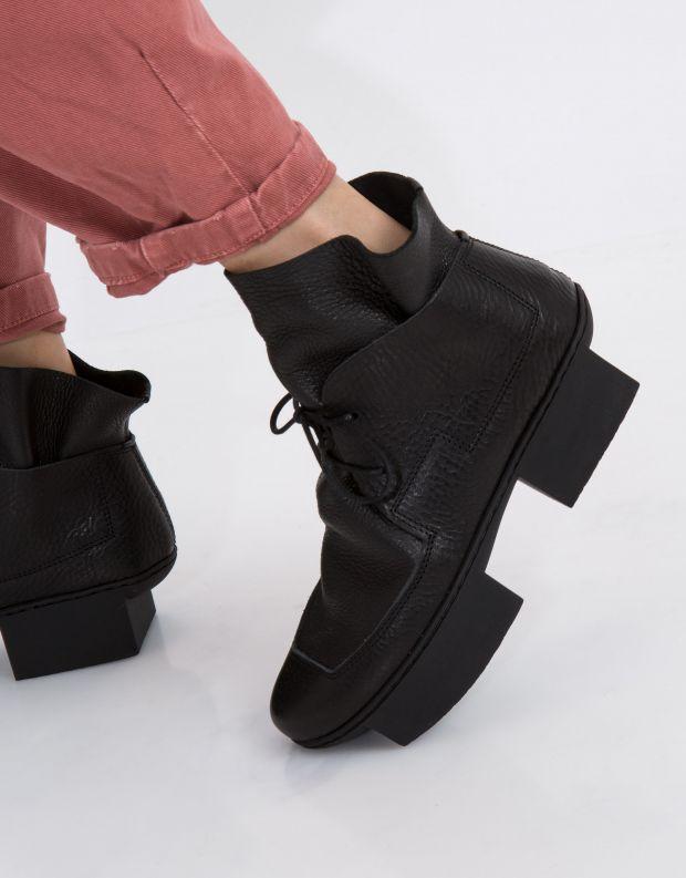 נעלי נשים - Trippen - מגפון TROWEL BOX - שחור