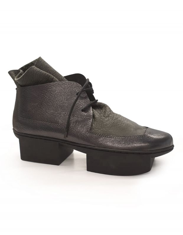 נעלי נשים - Trippen - מגפון TROWEL BOX - אפור מבריק