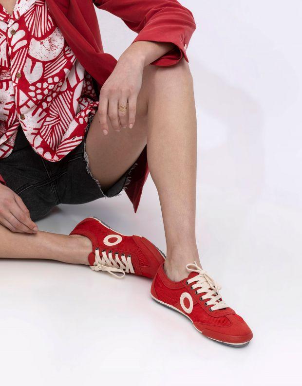 נעלי נשים - Aro - סניקרס JOANETA VEGAN - אדום   לבן