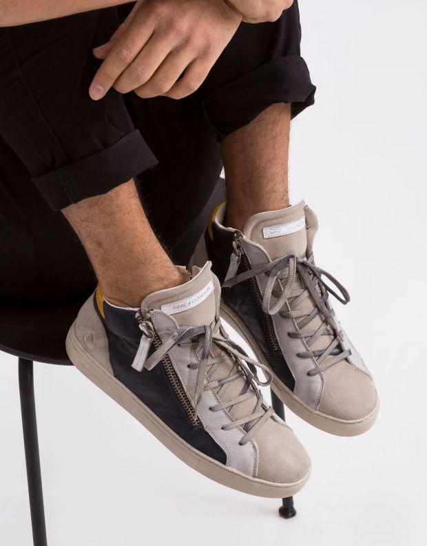 נעלי גברים - Crime London - סניקרס JAVA HI - כחול   לבן