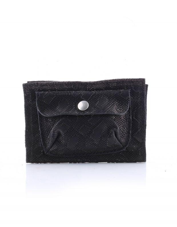 נעלי נשים - A.S. 98 - ארנק עור עם כיס תיקתק - שחור