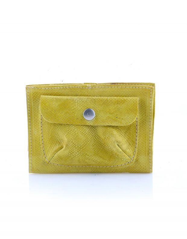 נעלי נשים - A.S. 98 - ארנק עור עם כיס תיקתק - צהוב