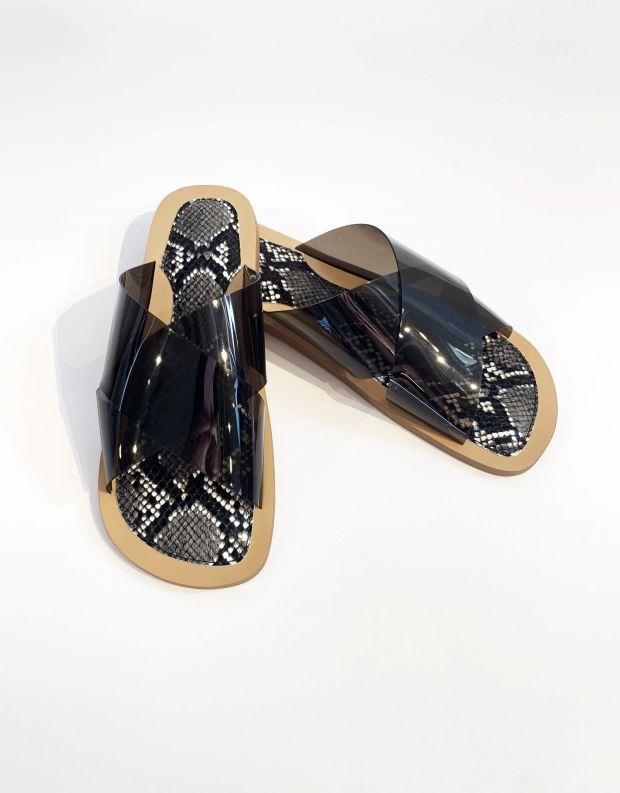 נעלי נשים - Jeffrey Campbell - קבקב CLEAH VINIL - שחור