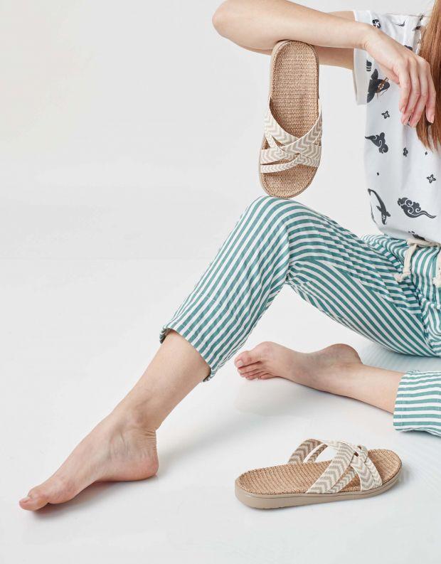 נעלי נשים - Lovelies - כפכפי בד LAGUNA - בז'