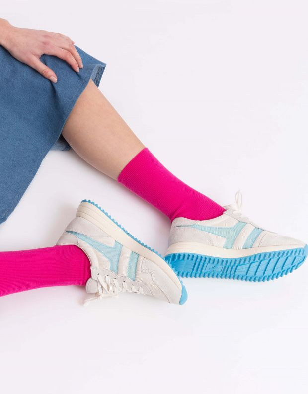 נעלי נשים - Gola - סניקרס VANCOUVER MESH - לבן   תכלת