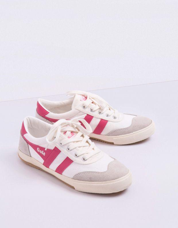 נעלי נשים - Gola - סניקרס BADMINTON - לבן   ורוד