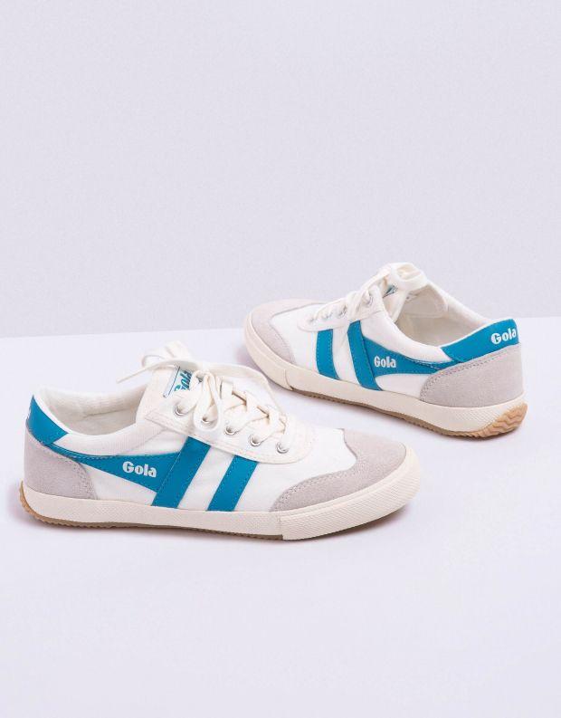 נעלי נשים - Gola - סניקרס BADMINTON - לבן   טורקיז