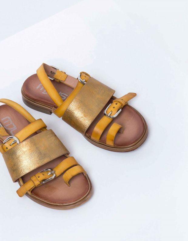 נעלי נשים - Mjus - סנדל GRAM אבזמים - קאמל