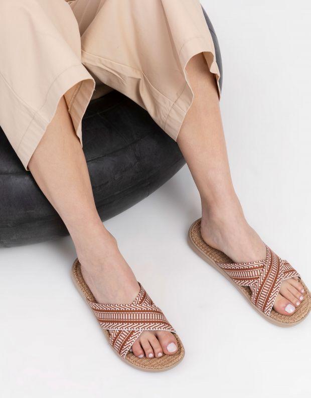 נעלי נשים - Lovelies - כפכפי בד PHI PHI - חום