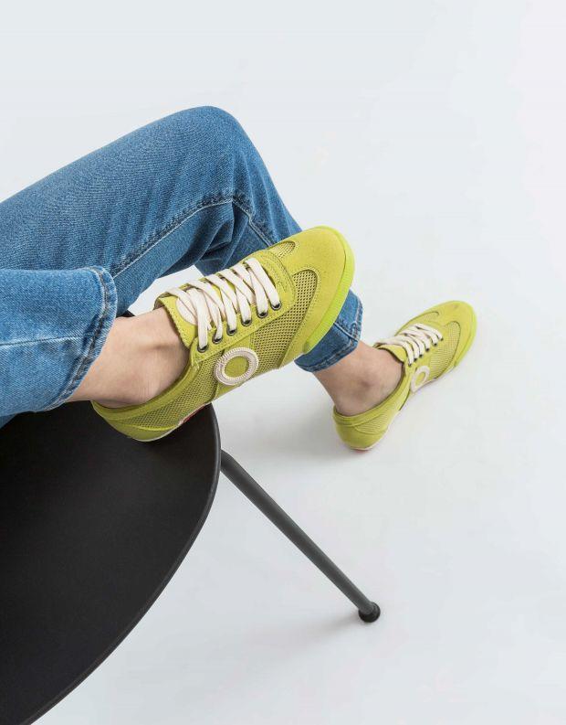 נעלי נשים - Aro - סניקרס JOANETA VEGAN - ירוק בהיר