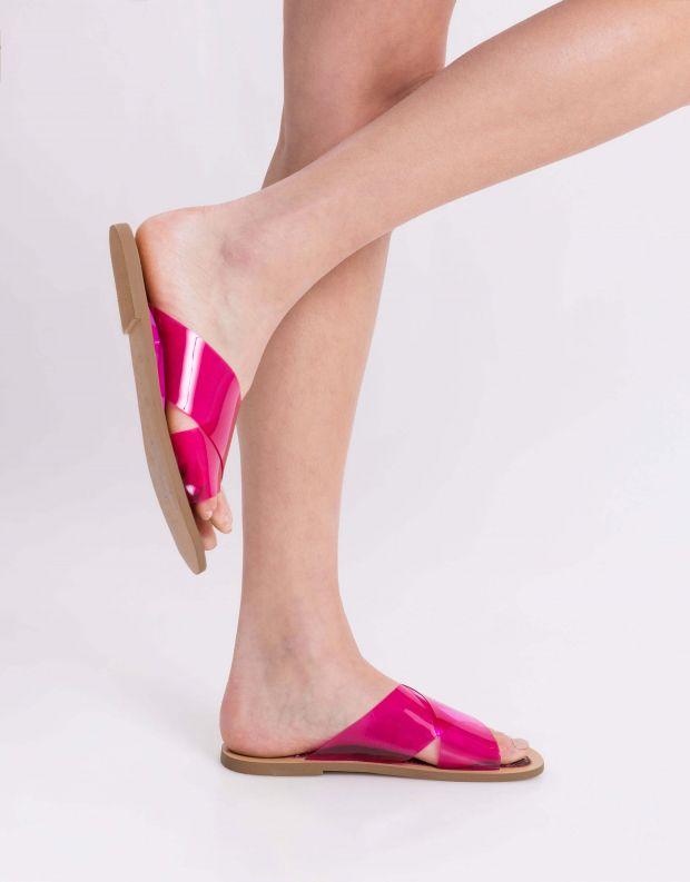 נעלי נשים - Jeffrey Campbell - קבקב CLEAH VINIL - ורוד