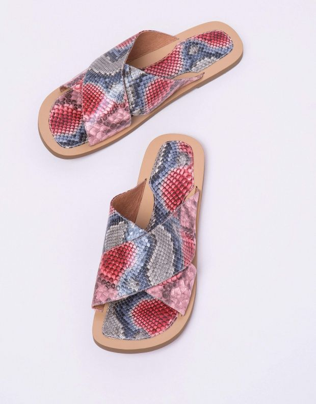 נעלי נשים - Jeffrey Campbell - קבקב CLEAH נחש - אדום