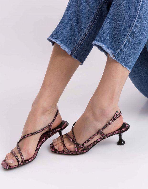 נעלי נשים - Jeffrey Campbell - סנדל NOEMI נחש - ורוד