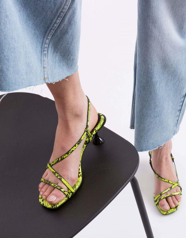 נעלי נשים - Jeffrey Campbell - סנדל NOEMI נחש - צהוב