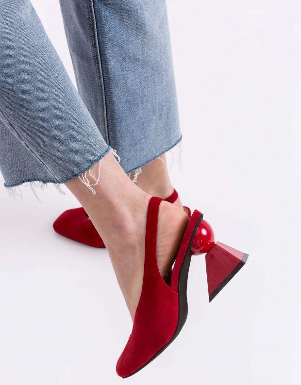 נעלי נשים - Jeffrey Campbell - סירה VITTI - אדום