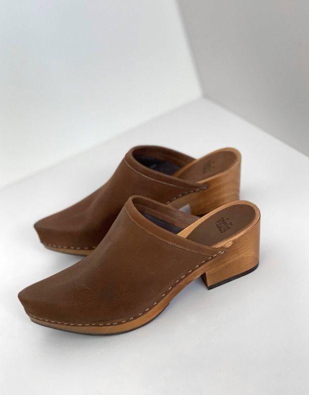 נעלי נשים - Vialis - כפכפי עץ DAIDAI - חום