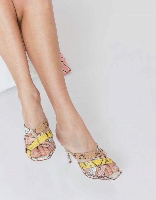 נעלי נשים - Schutz - קבקב CLARA - נחש צבעוני