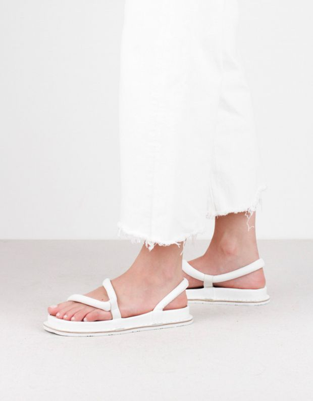 נעלי נשים - Trippen - סנדלי עור ZIGZAG FLIPFLOP - לבן