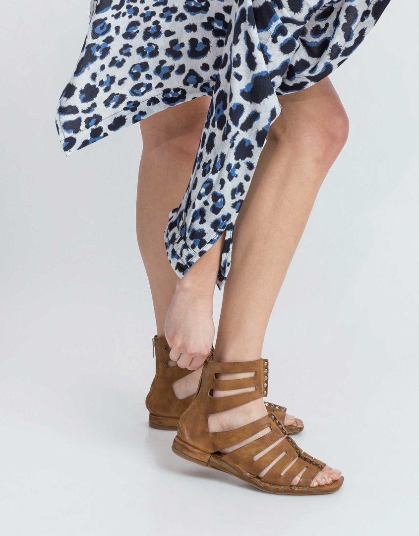 נעלי נשים - A.S. 98 - סנדל גבוה COOL - חום-בהיר