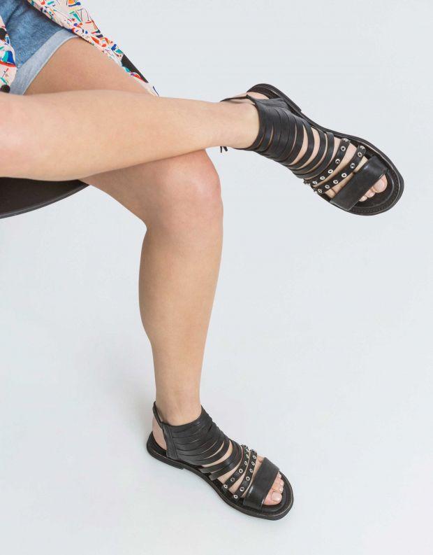 נעלי נשים - A.S. 98 - סנדל MALIBU רצועות דקות - שחור