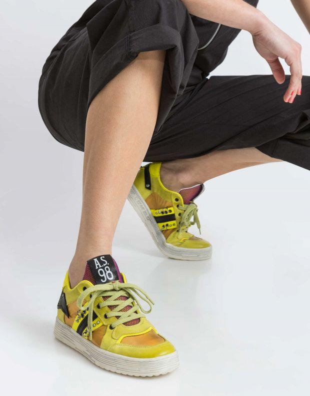 נעלי נשים - A.S. 98 - סניקרס AS YONG - צהוב