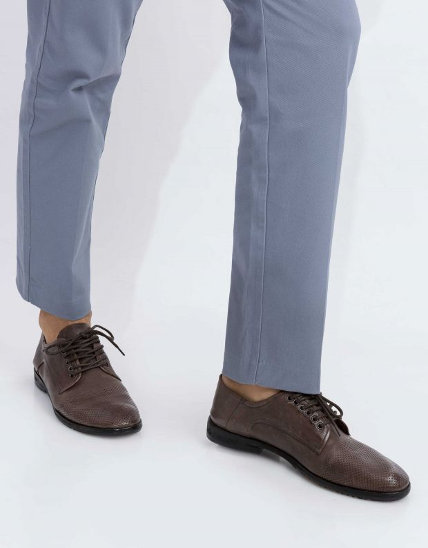 נעלי גברים - A.S. 98 - נעל DRENGE - חום כהה