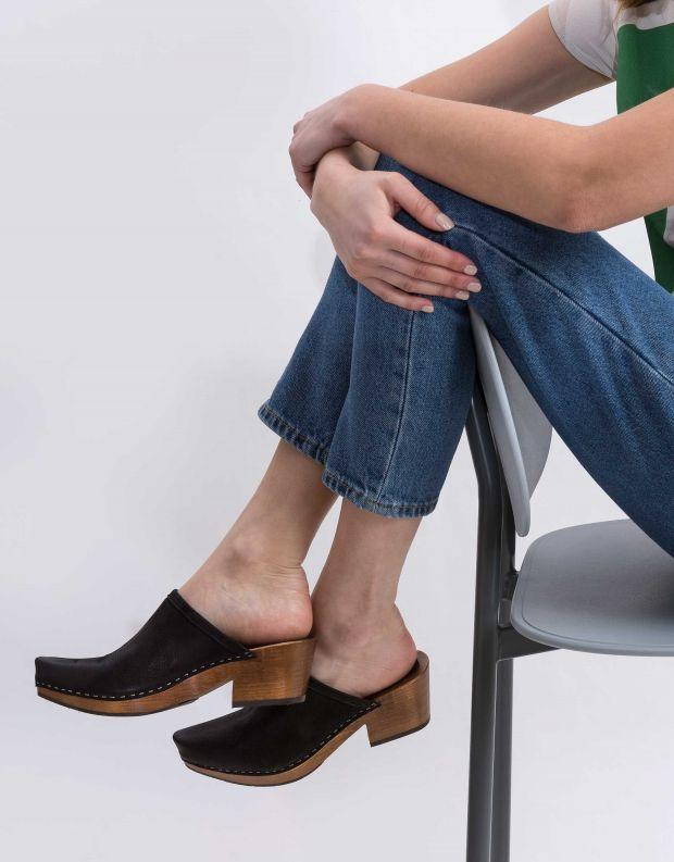 נעלי נשים - Vialis - כפכפי עץ DAIDAI - שחור