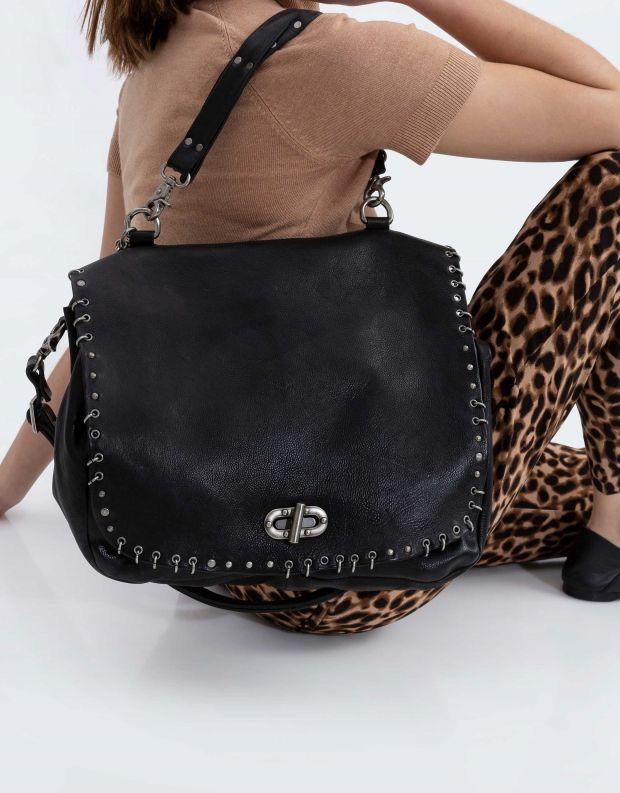 נעלי נשים - A.S. 98 - תיק מנעול לולאות גדול - שחור