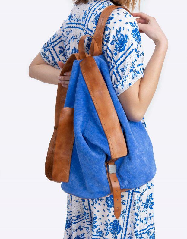 נעלי נשים - A.S. 98 - תיק גב משולש - כחול