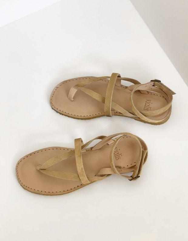 נעלי נשים - Vialis - סנדל EUSEBIA PONY - בז'