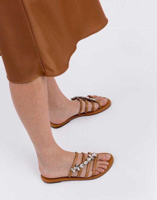 נעלי נשים - Schutz - קבקב LAURA - חום בהיר
