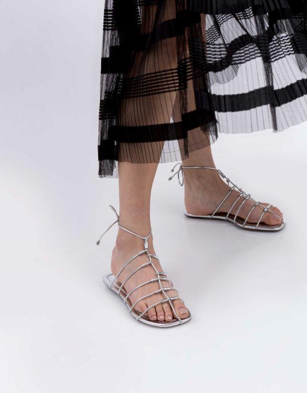 נעלי נשים - Schutz - סנדל TITA - כסף