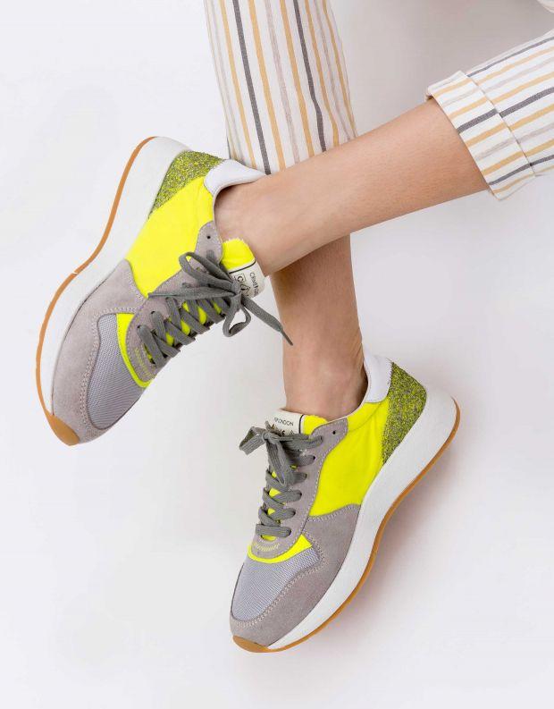 נעלי נשים - Crime London - סניקרס LUNAR - צהוב