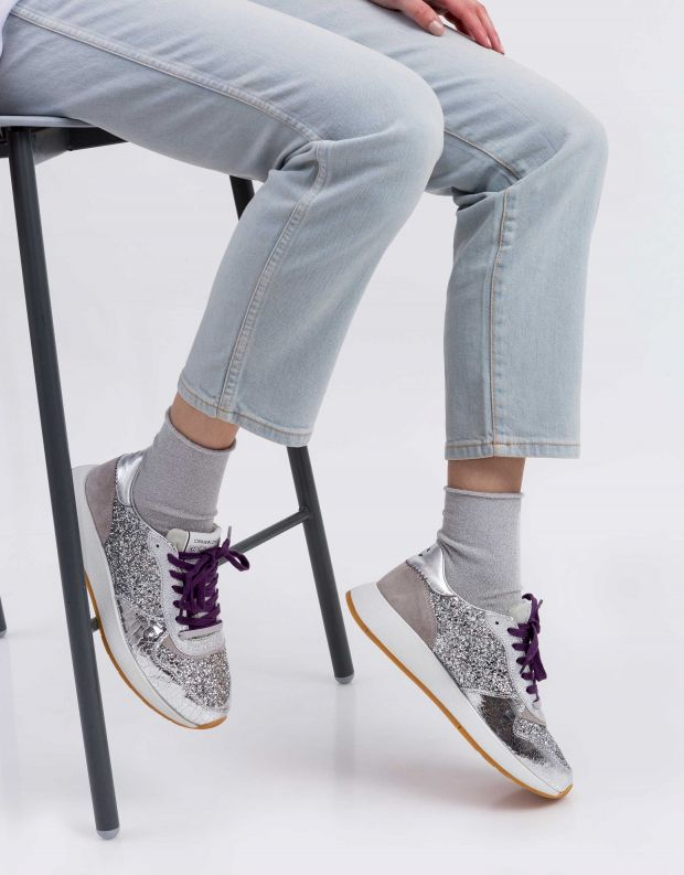 נעלי נשים - Crime London - סניקרס LUNAR נצנצים - כסף