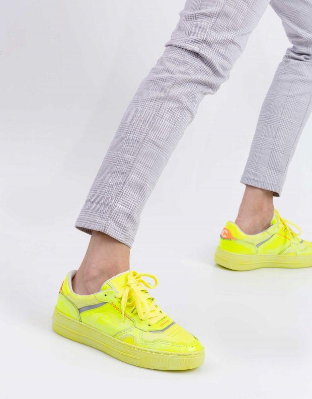נעלי נשים - Crime London - סניקרס MARS - צהוב