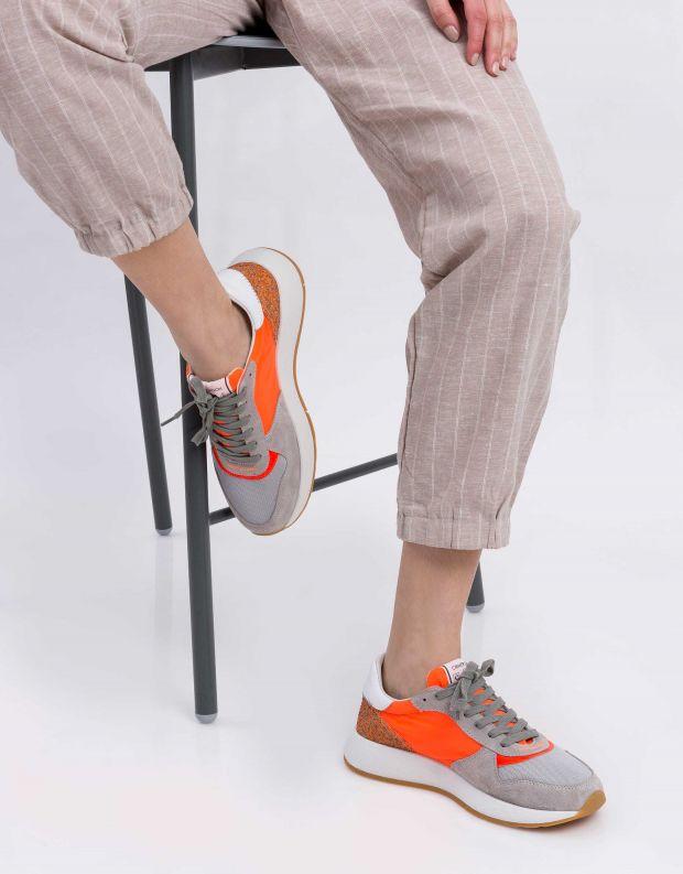 נעלי נשים - Crime London - סניקרס LUNAR - כתום