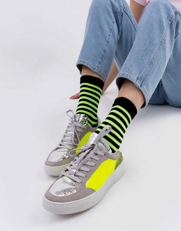 נעלי נשים - Crime London - סניקרס MARS PATENT - צהוב