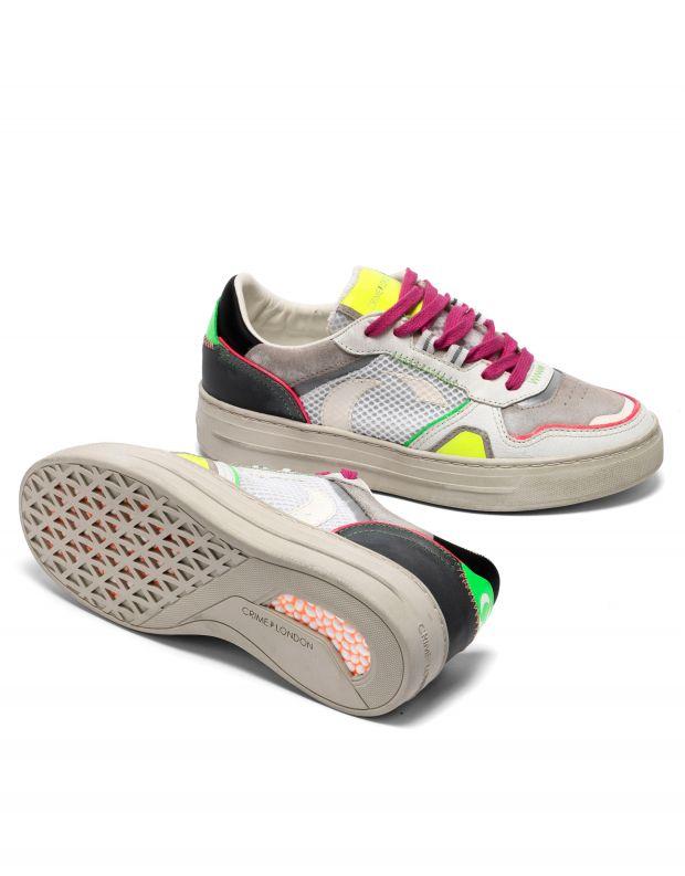 נעלי נשים - Crime London - סניקרס MARS צבעוני - לבן
