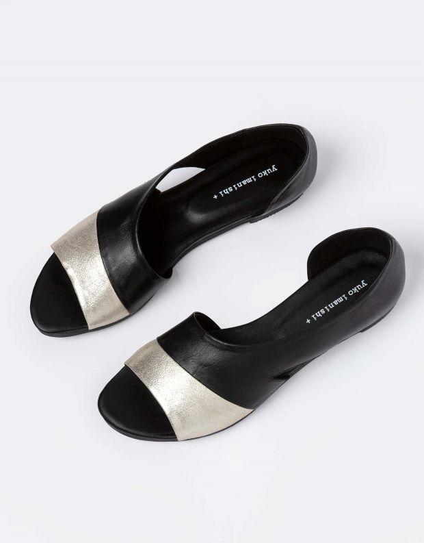 נעלי נשים - Yuko Imanishi - נעל TORI - שחור   זהב