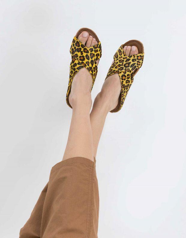 נעלי נשים - Klub Nico - קבקב GRICIA LEOPARD - צהוב