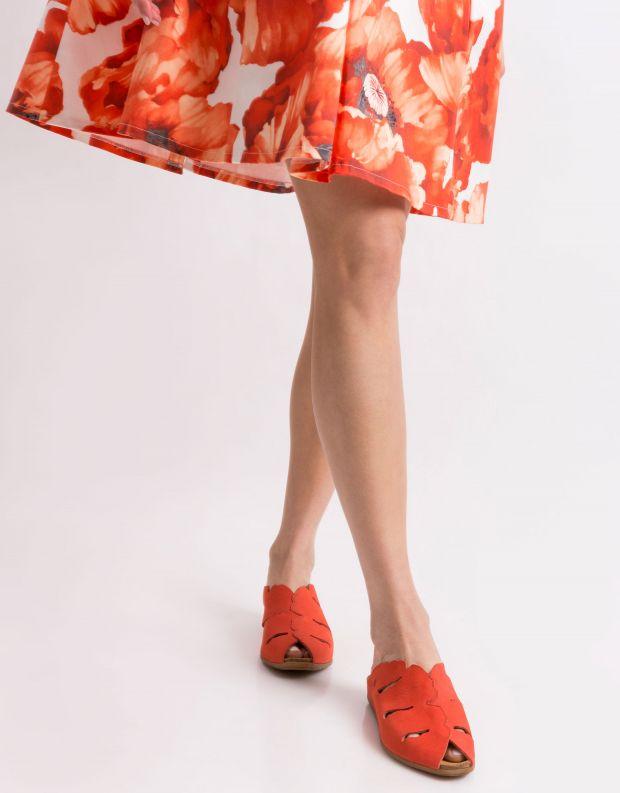 נעלי נשים - El Naturalista - קבקב STELLA חריצים - אדום