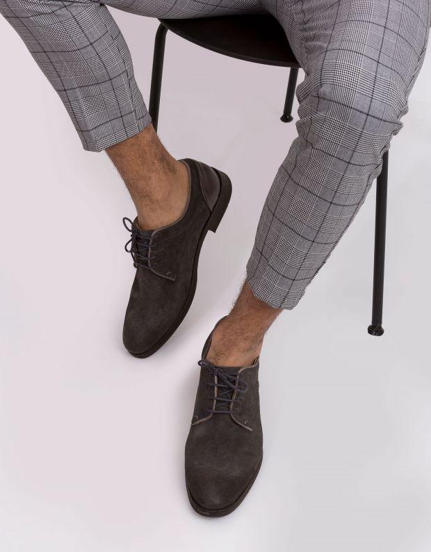 נעלי גברים - Hudson - נעל DREKER זמש - אפור