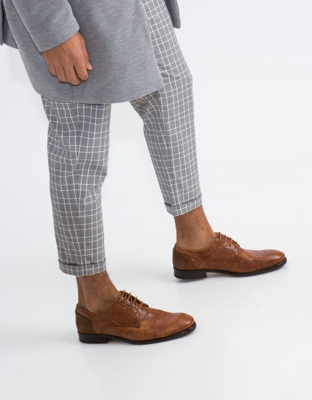 נעלי גברים - Hudson - נעל DREKER עור - קאמל