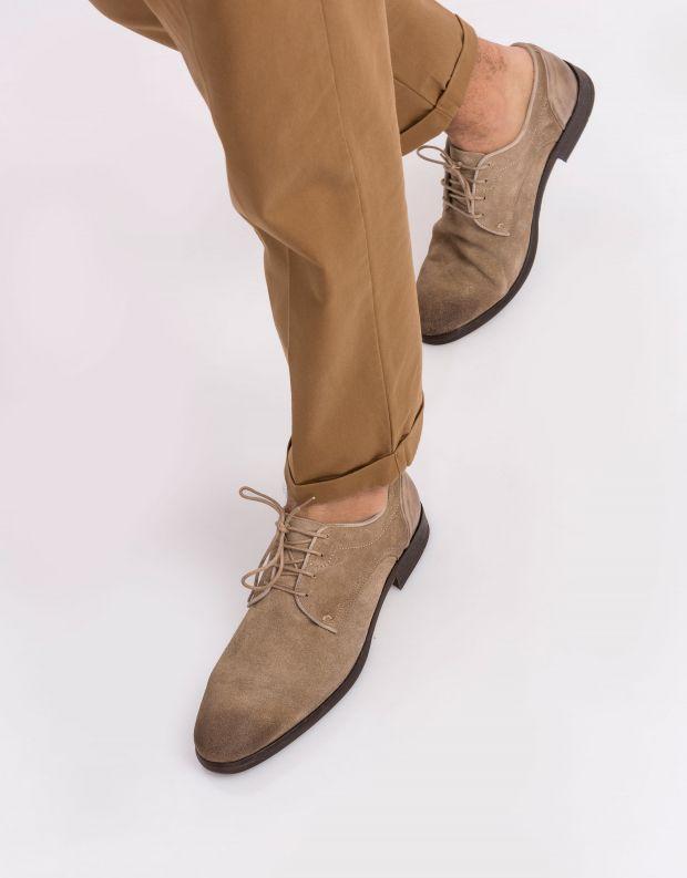 נעלי גברים - Hudson - נעל DREKER זמש - חום בהיר