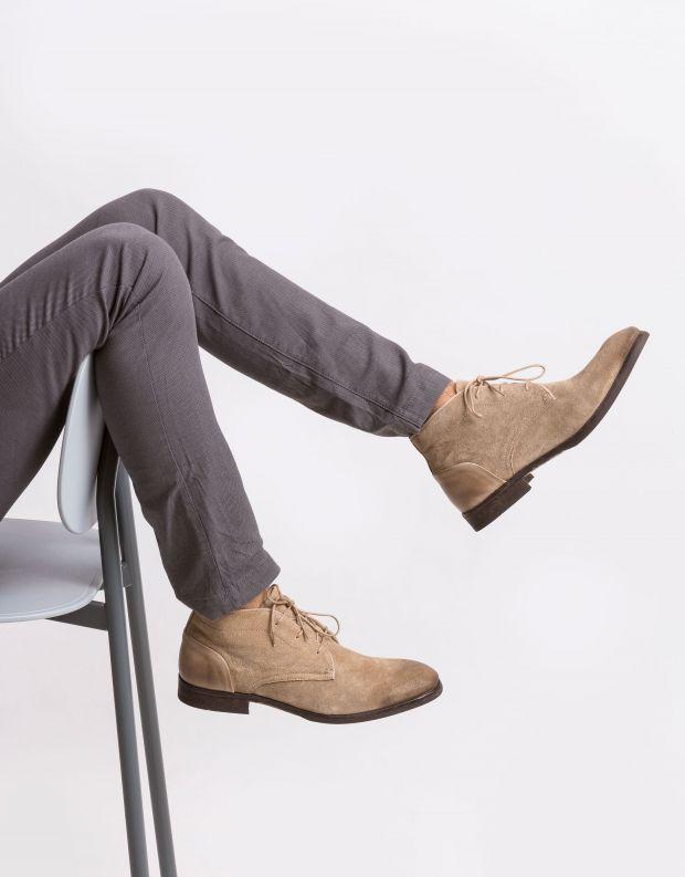 נעלי גברים - Hudson - נעל RYECROFT זמש - חום בהיר