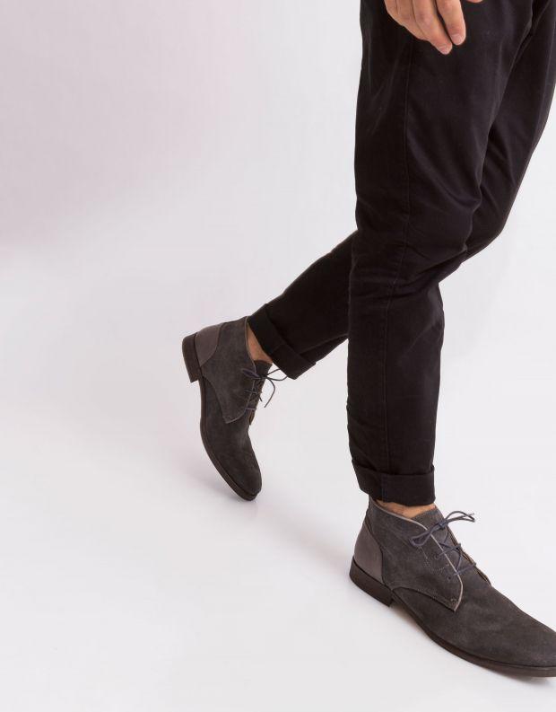 נעלי גברים - Hudson - נעל RYECROFT זמש - אפור